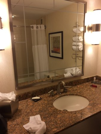 New York Marriott Marquis : Salle de bain horrible