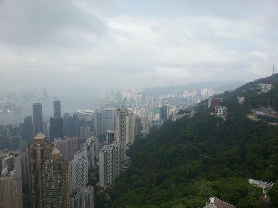 Victoria Peak (The Peak): view of Hong Kong from peak