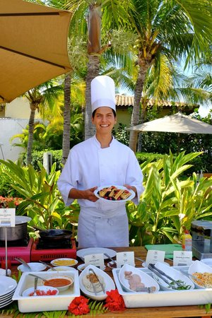 The St. Regis Punta Mita Resort: Gerardo at the Breakfast Buffet