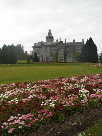 Adare Manor: garden view of manor