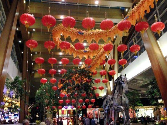 Aria Resort Casino Aria All Decorated For Chinese New Year