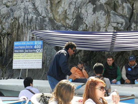 Blaue Grotte (Grotta Azzurra): 料金表