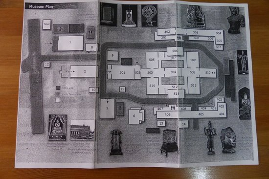 The National Museum Bangkok: Paper map of the National Museum