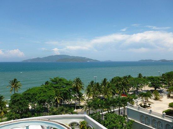 Sunrise Nha Trang Beach Hotel & Spa: View to Vin Pearl