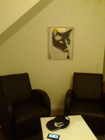 Hotell Hovgard: You just have to have a cat photo on the wall.