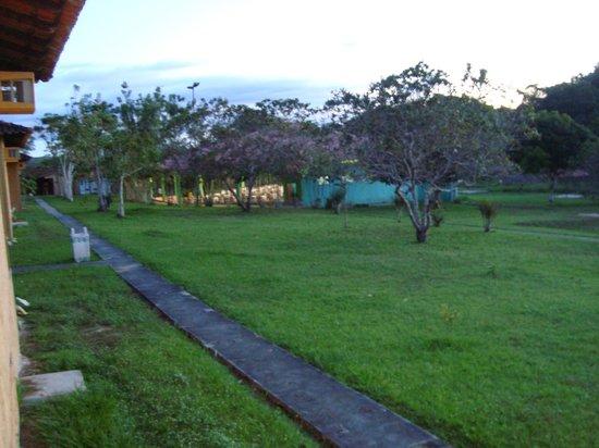 Hotel Iracema Falls: Vista do restaurante a partir do quarto