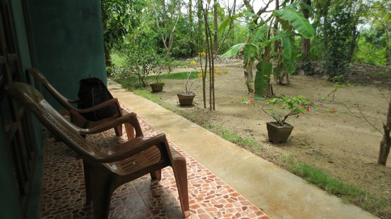 Sigiri Choona Lodge : Terrasse chambre