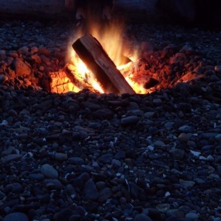 Semiahmoo Resort: beach fire