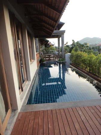 Royal Muang Samui Villas: Private pool in our top floor villa