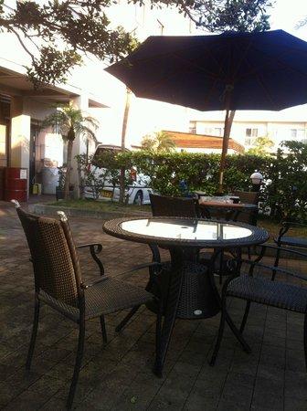 Route-Inn Grantia Ishigaki : 外で食事ができます