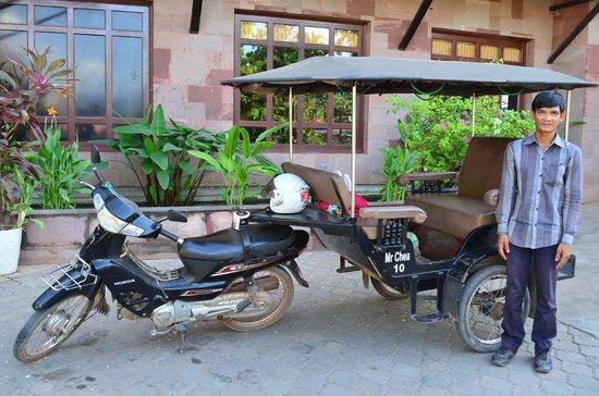 Angkor Paradise Hotel: Tuk-tuk