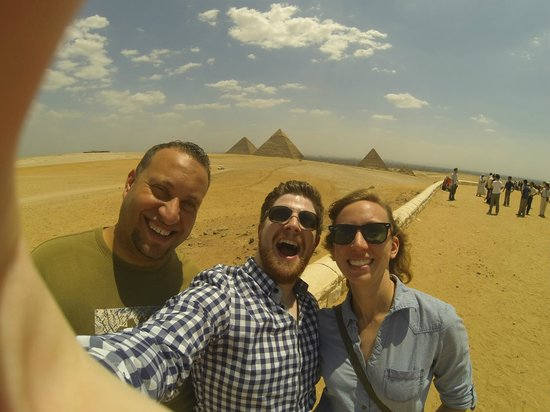 Cairo-Overnight Tours - Day Tours: Mr Momen, myself and my fiance