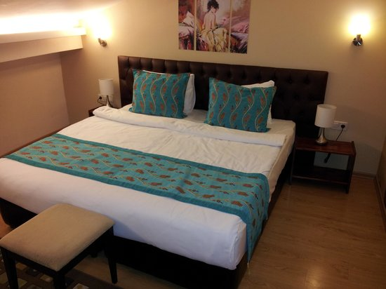 Taksim Plussuite Hotel : pethouse bed