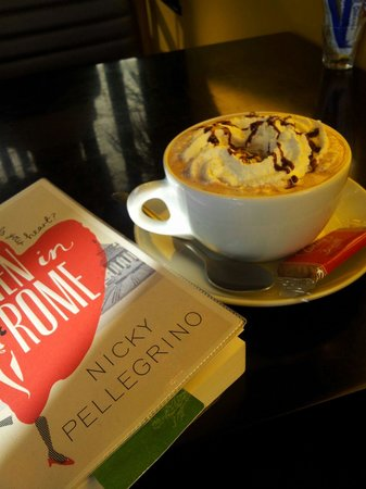 Coffee Time: Enjoying a coffee and reading a book!