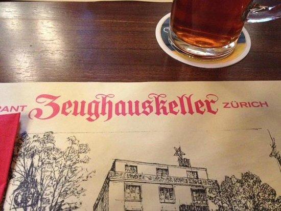 Zeughauskeller : Plate settings - Name of the restaurant