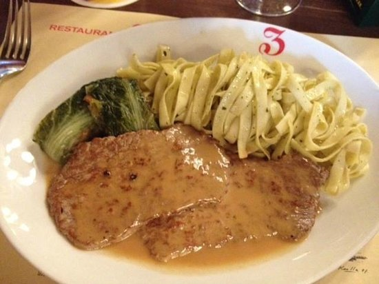 Zeughauskeller : This was a dish special. Veal cutlets in a cream sauce