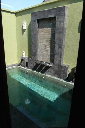 The Jas Villas: The private pool - quite refreshing on a hot day.
