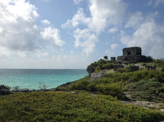 "Maya-Ruinen von Tulum: ""God of Winds"" Temple"