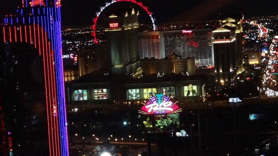 One of the views of the Vegas strip from Alize at the Palms