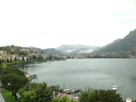 Hotel Victoria au Lac: Seeblick leicht verregnet