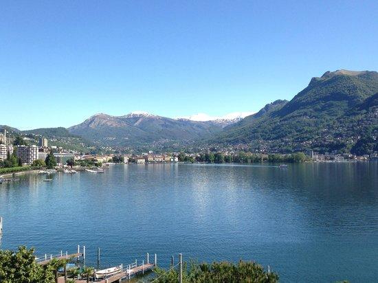 Hotel Victoria au Lac: Blick auf Lugano City