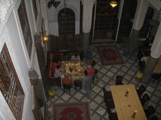 Riad Dar Dmana: Lobby from my 2nd floor room