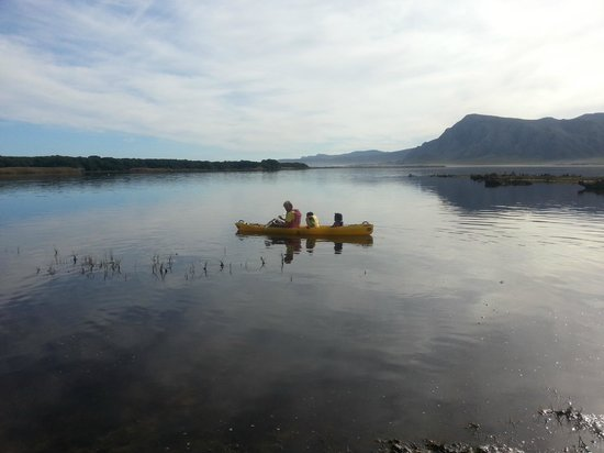 MOSAIC Lagoon Lodge: Kayaking on lagoon