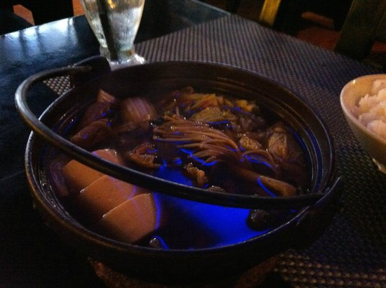 Bluefin Japanese Fusion and Lounge : Sukiyaki with beef