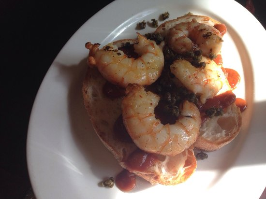 Tom's Kitchen: Prawns on toasted bread
