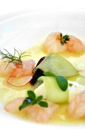 Restaurant Il Falconiere: Scampi marinati