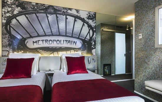 Hotel du Cadran Tour Eiffel: Nouvelle chambre twin