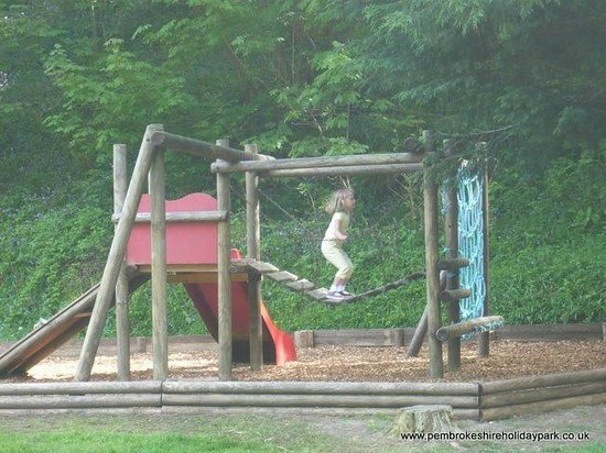 Llwyngwair Manor: Touring park play area