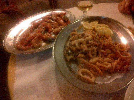 Mabrouk : Gamberoni arrosto e fritto di calamari