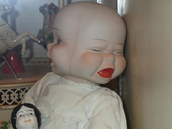 Rudesheim Toy Museum: two-faced demonic baby doll