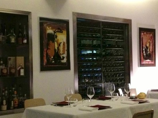 Restaurant Le Serac: Tempting wine selection