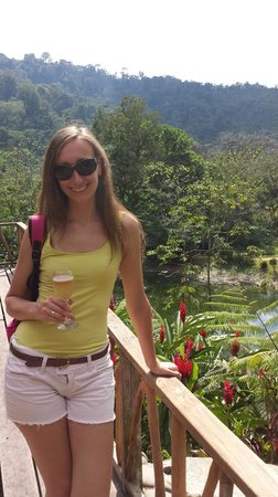 Rafiki Safari Lodge : Llegada al hotel: nos dieron un riquísimo coctel de bienvenida