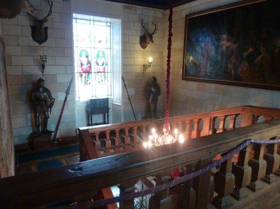 Chateau de Noizay : escalier principal