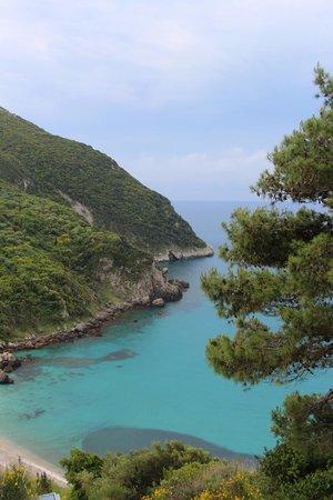 SENSIMAR Grand Mediterraneo Resort & Spa by Atlantica: Ermones bay from the room