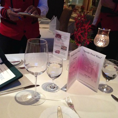 Bruno's Restaurant & Wine Bar: our table