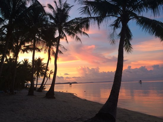 Peppercorn Beach Resort : Sunset from my hammock