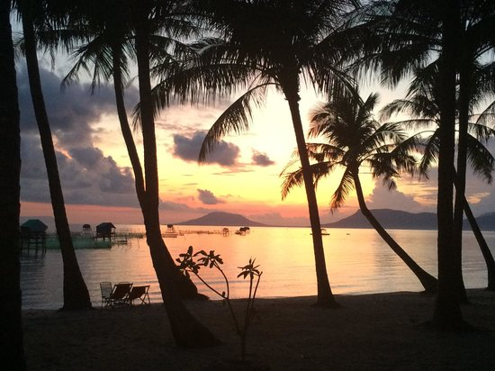 Peppercorn Beach Resort : Sunrise from my hammock