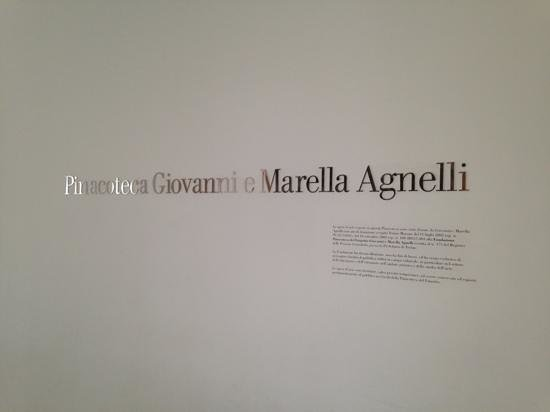Giovanni and Marella Agnelli Picture Gallery: Signage