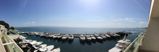 Le Meridien Lav Split: View of marina from the balcony