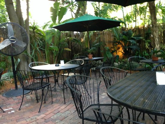 Old Town Manor: The patio