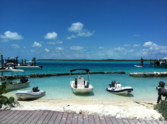 Staniel Cay Yacht Club : Dingy parking area