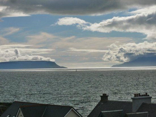West Highland Hotel: View from bedroom across to Eigg and Skye