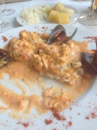 Restaurante Grill Manolo's: Monkfish in shellfish sauce mmm mmm mmm :-)
