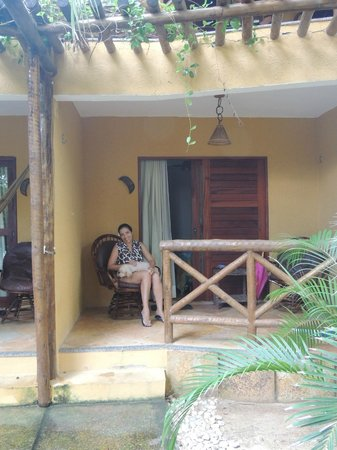 Pousada Kitecabana Cumbuco: Varanda do apartamento