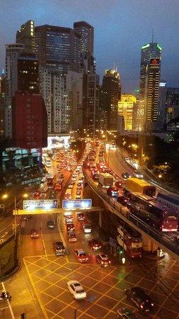 Dorsett Wanchai, Hong Kong : Night view from the Room