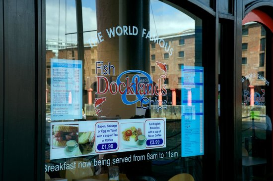 Docklands Fish and Chips: From the dock looking in
